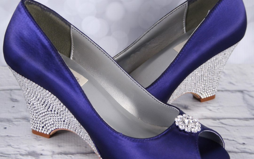 Bring on the Bling!  Dress Up Your Custom Wedding Shoes with a Crystal Covered Heel
